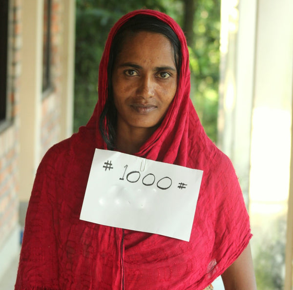 Celebrating our 1,000 mother to join Sreepur!