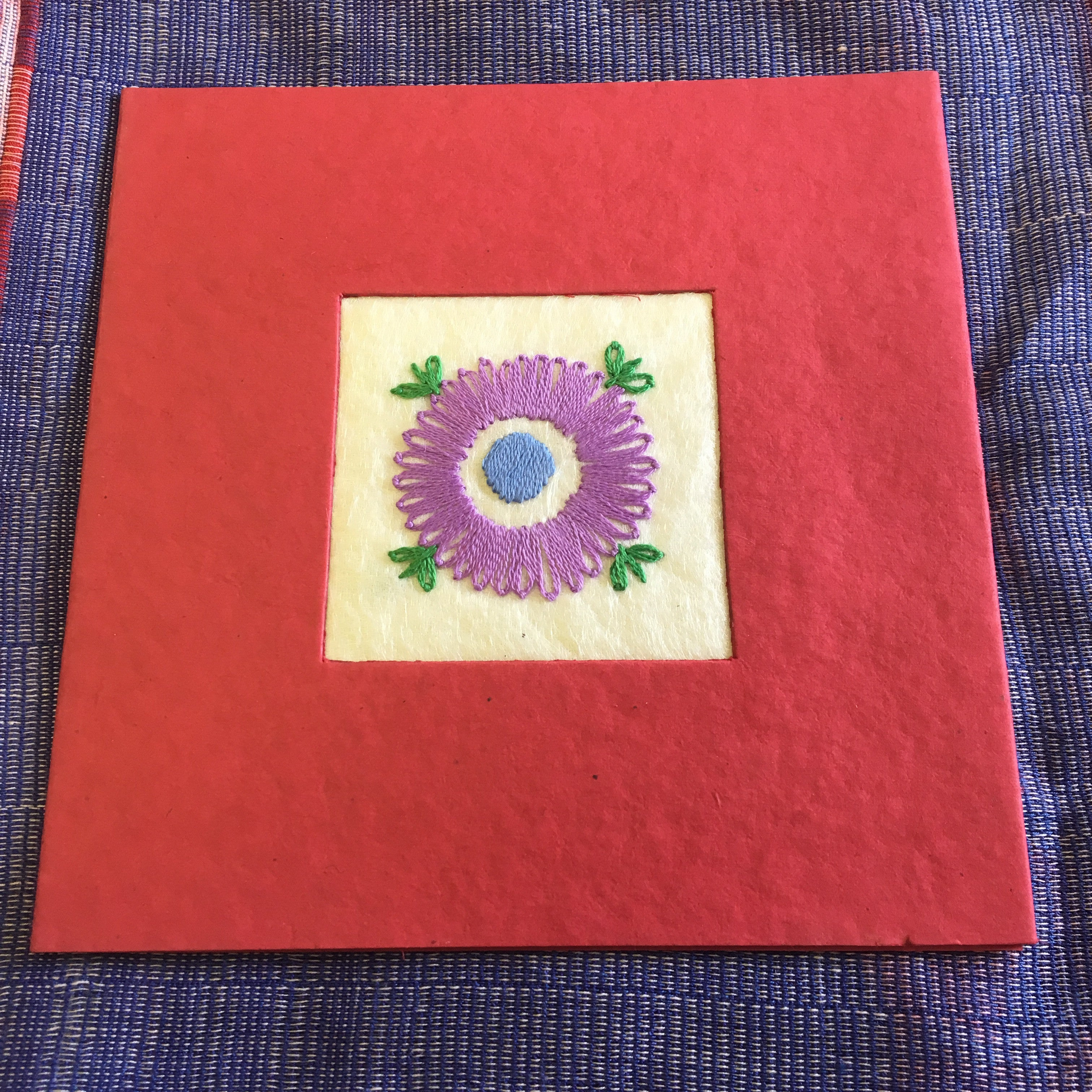 Embroidered greetings cards the sreepur village sreepur village charity embroidered greetings cards kristyandbryce Choice Image