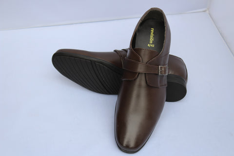 Men Formal Leather Shoes ALDOM Slip-on Monk