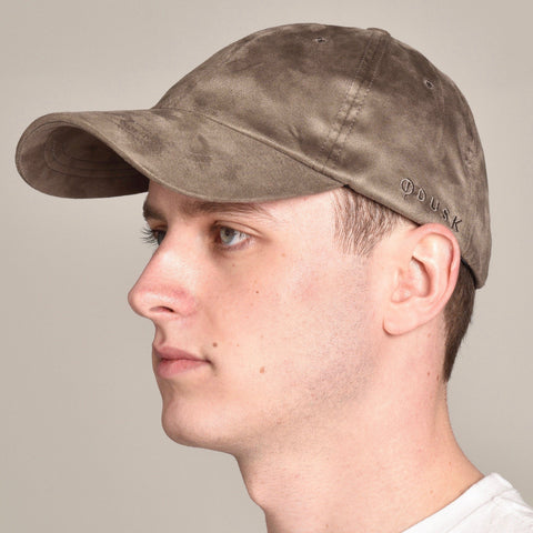 Suede Cap Taupe | Dusk Clothing