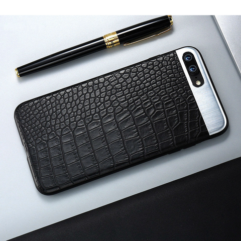 Metal + Leather iPhone 7 /7 Plus Cases - llcbrand