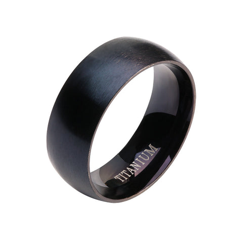Black Titanium Steel Ring - llcbrand