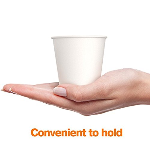 100 x 4oz White Paper Cups For Espresso Shot (118ml)