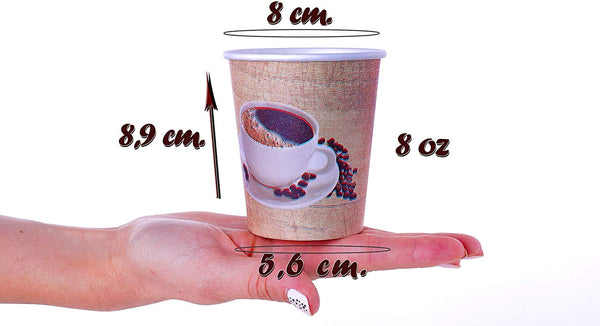 50 x 7.5 oz Single Wall Paper Cups (230 ml)