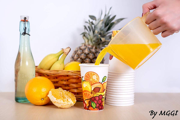 50 x 12 oz Cold Paper Cups for Cold Drinks Perfect for Freshly Squeezed Juices (350 ml)