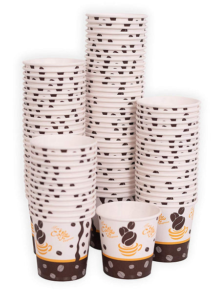 100 x 4oz Espresso Paper Cups for Hot Drinks (118ml)