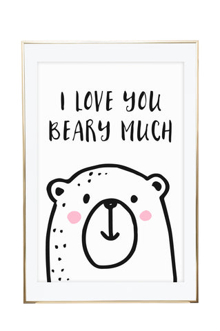 'Beary Much' Wall Print - Pika & Pookie Designs