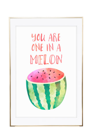 'You Are One In A Melon' Wall Print - Pika & Pookie Designs