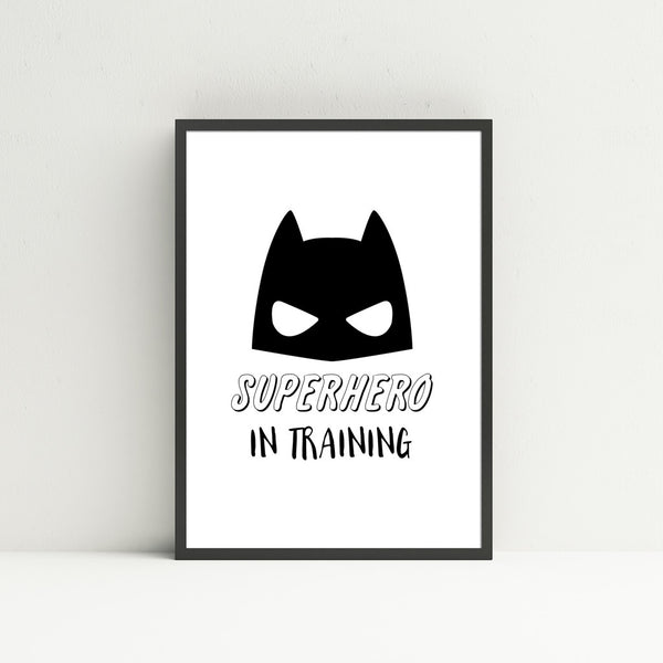 'Superhero In Training' Wall Print - Pika & Pookie Designs