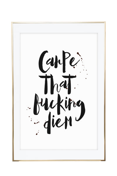 'Carpe That F*cking Diem' Wall Print - Pika & Pookie Designs