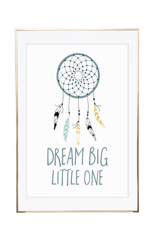 'Dream Big Little One' Wall Print - Pika & Pookie Designs