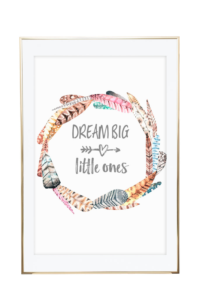 'Dream Big Little Ones - Twins' Wall Print - Pika & Pookie Designs