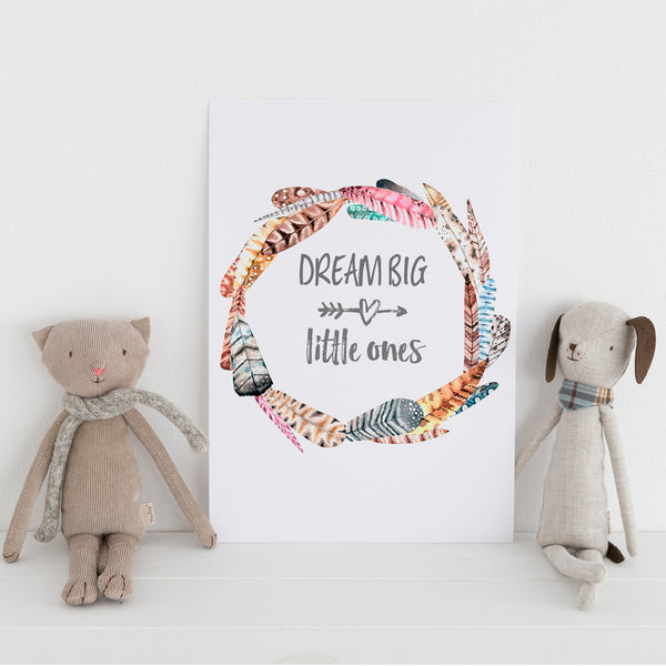 'Dream Big Little Ones - Twins' Wall Print