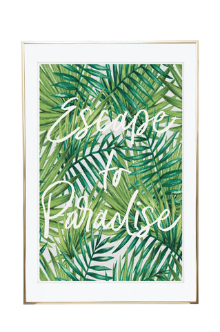 'Escape to Paradise' Wall Print - Pika & Pookie Designs