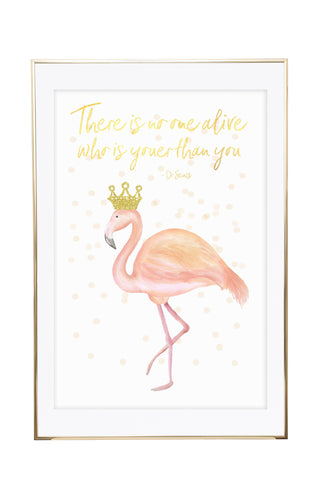 'Flamingo - Pink & Gold' Wall Print - Pika & Pookie Designs