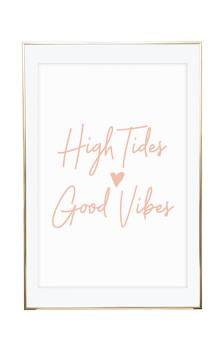 'High Tides - Blush' Wall Print - Pika & Pookie Designs