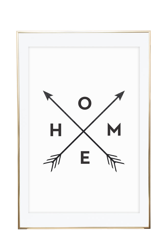 'Home Arrows' Wall Print - Pika & Pookie Designs