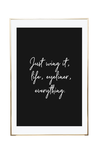 'Just Wing It' Wall Print