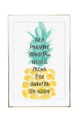 'Watercolour Pineapple' Wall Print - Pika & Pookie Designs