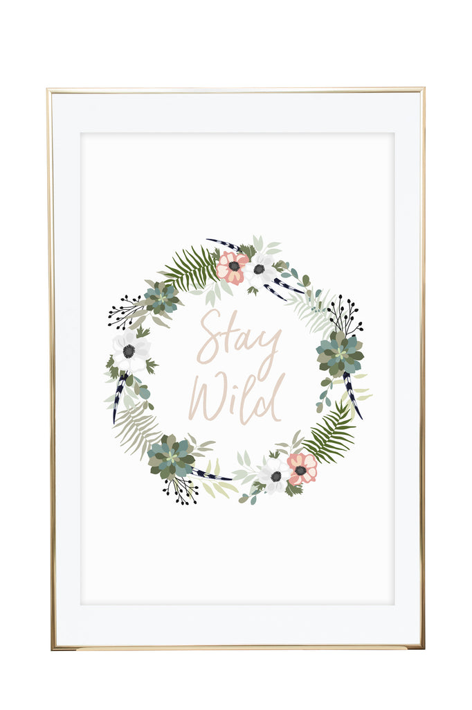 'Stay Wild' Wall Print - Pika & Pookie Designs