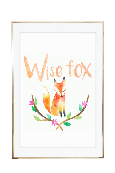 'Wise Fox' Wall Print - Pika & Pookie Designs