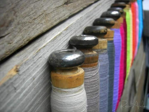 Cotton spools, Aegean cotton for Ebb Flow Cornwall