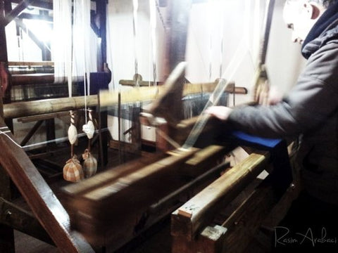Traditional weaving in Turkey for ebbflowcornwall