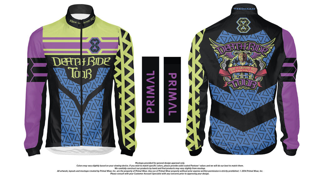 2017 DEATH RIDE Tour VIII Women's Wind Jacket - CLOSEOUT - $50