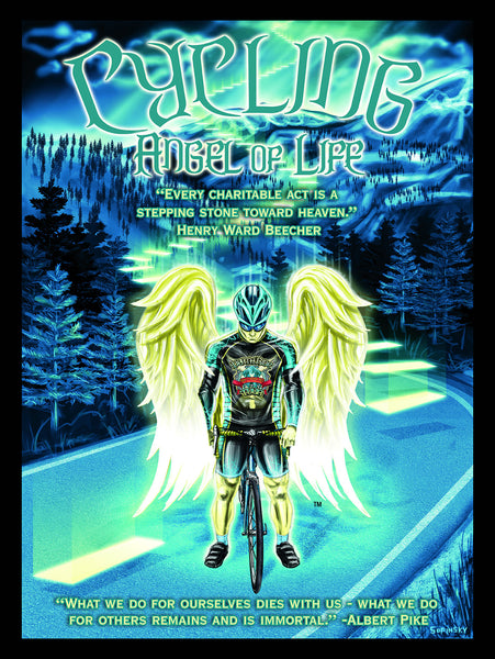 CYCLING Angel of Life Posters by Sopinsky Creations