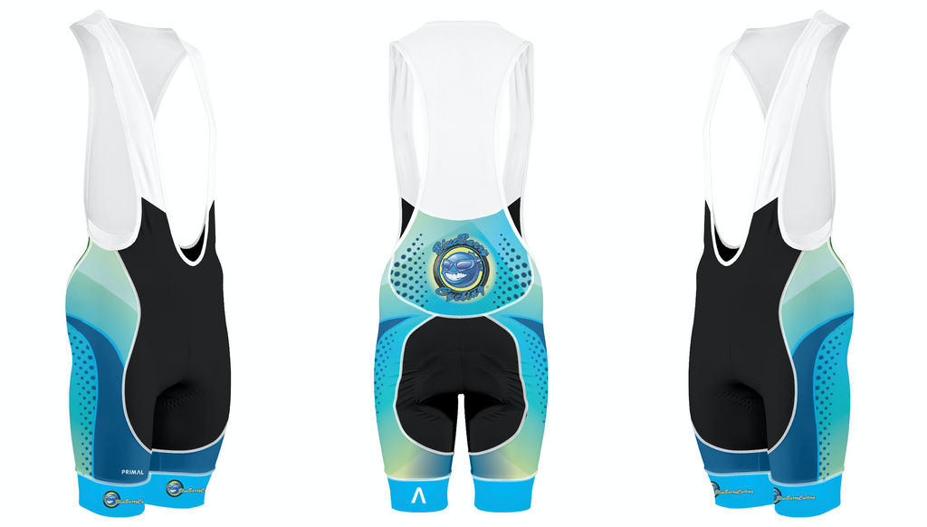 UniSex BlueBarry Cycling Bibs - Top of the line Helix 2.0 made by PRIMAL.