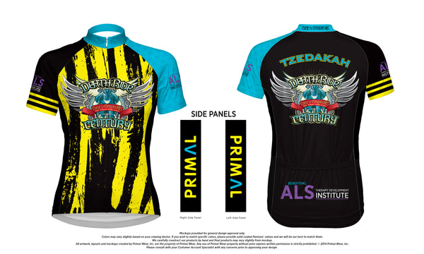 SPECIAL CLOSE OUT PRICE  - $25.00 - 2018 DEATH RIDE Century - PRIMAL Jersey