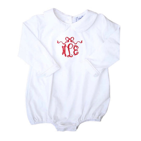 Harlow Bow Baby Long-Sleeve Bubble bodysuit