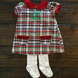 Girls Tartan Dress & Tights