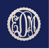 Scalloped Monogram Door Hanger