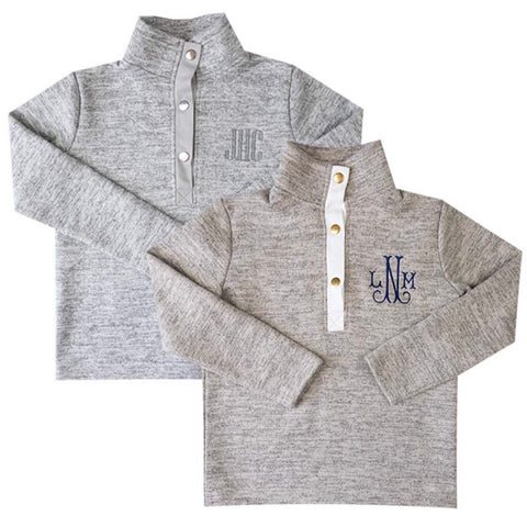 Kids unisex fleece pullover
