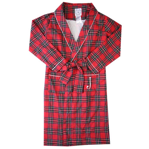 Christmas Tartan Robe for Children Toddlers Holiday Gifts