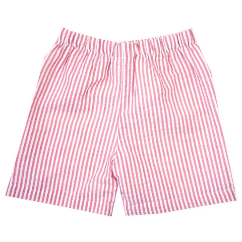Asher Red Seersucker Shorts