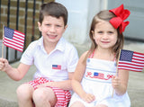 Americana Smocked Flag Swing Top & Shorts Set
