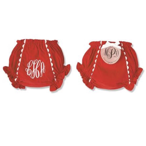 Red Corduroy Bloomers