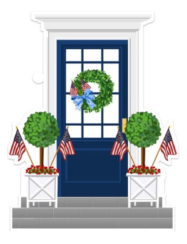Patriotic Front Door Tag