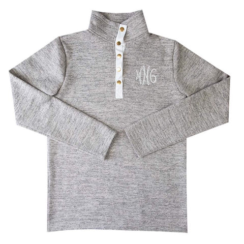 Ladies Heathered Fleece Pullover