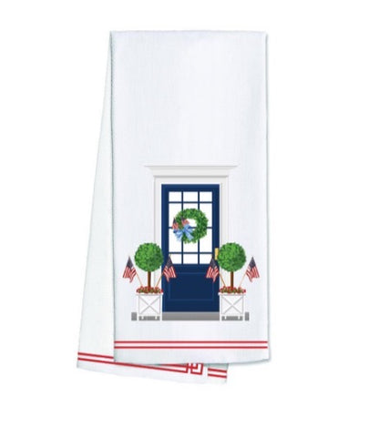 Patriotic Front Door Tea Towel
