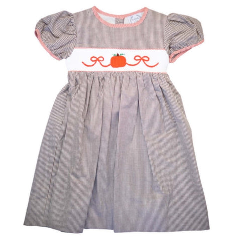 Molly Smocked Pumpkin Dress