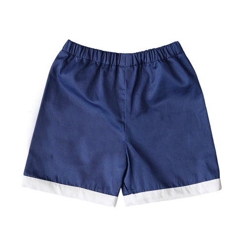 David Navy Pique Shorts