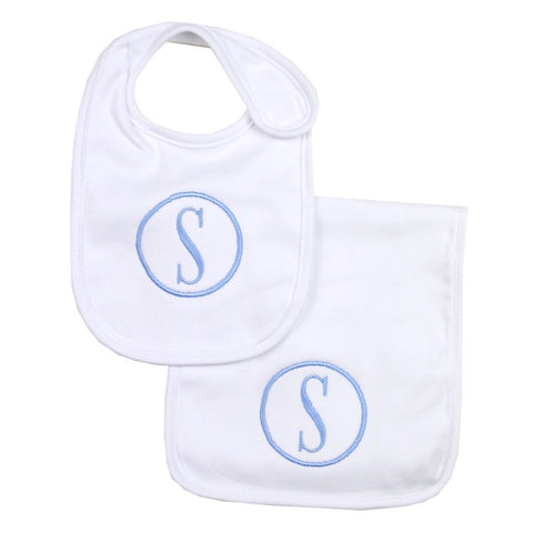 Classic White Burp Cloth & Bib Set