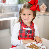 Kids French Knot Gingerbread Men Apron
