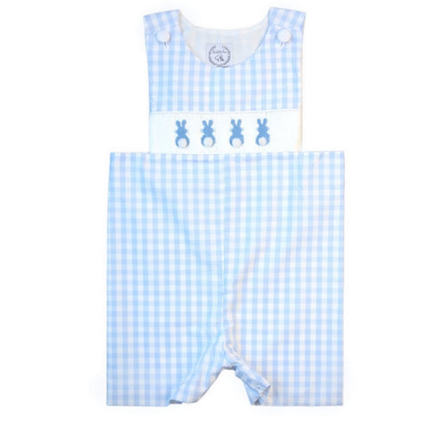 Peter Cottontail Smocked Bunny Shortall