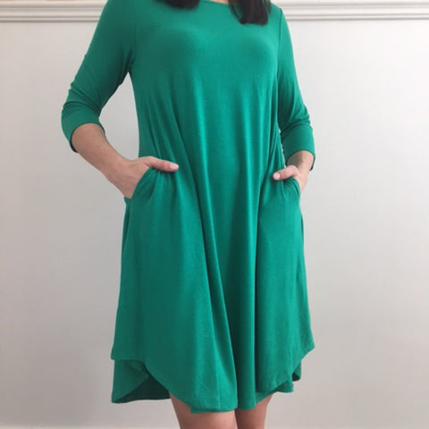 Zoe Side-Pocket Tunic Dress