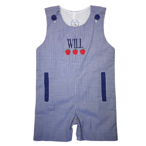 Evan Gingham Shortalls