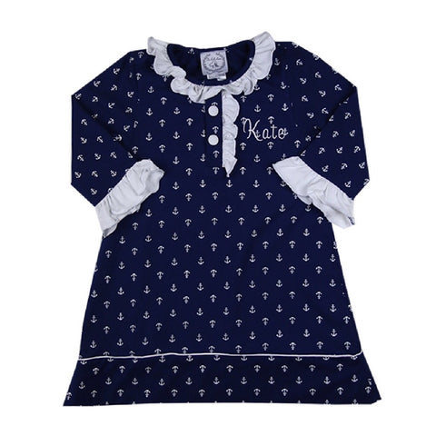Girls Anchor Nightgown